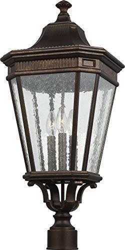 Feiss OL5428GBZ Cotswold Lane Outdoor Post Lighting, Bronze, 3-Light (12