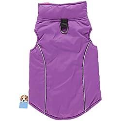 TAONMEISU Reversible Pet Jacket Dog Vest Sport Vest Winter Dog Clothes Jacket for Cold Weather Purple XS