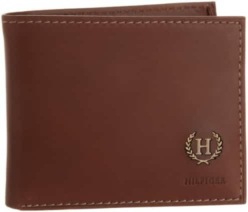 Tommy Hilfiger Men's Leather Hove Passcase Billfold Wallet with Removable Card Holder
