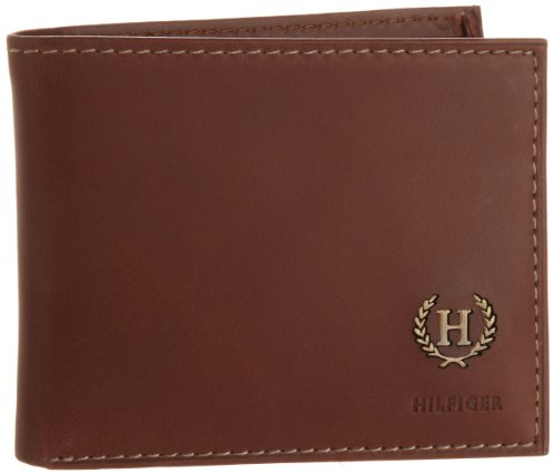Tommy Hilfiger Men's Leather Passcase Wallet with Removable Card Holder,Hove Tan ()