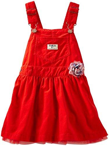 OshKosh B'Gosh Baby Girls' Corduroy Jumper (Baby) - Red - 3 (Corduroy Girls Overalls)