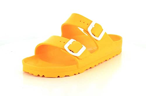 a63a1b91e87 Birkenstock Unisex Arizona Essentials EVA Scuba Yellow Sandals - 36 N EU    5-5.5 2A(N) US  Buy Online at Low Prices in India - Amazon.in