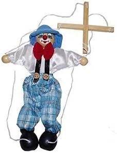 Juguetutto - Marioneta Payaso Gorro AZUL - Juguete de Madera