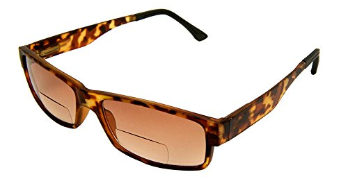 Rodeo I4 Traveler New Style Bifocal Spring Temple Wrap Sunglasses (Tortoise, 3 - Lightly Tinted Non Glasses Prescription
