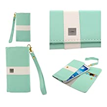 DFV mobile® - Cover Premium with Color Line Design with Card Case for => Sony Xperia ion LTE > Green