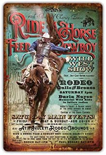 Metal Tin Sign fort worth rodeo Decor Bar Pub Home Vintage Retro Poster Cafe