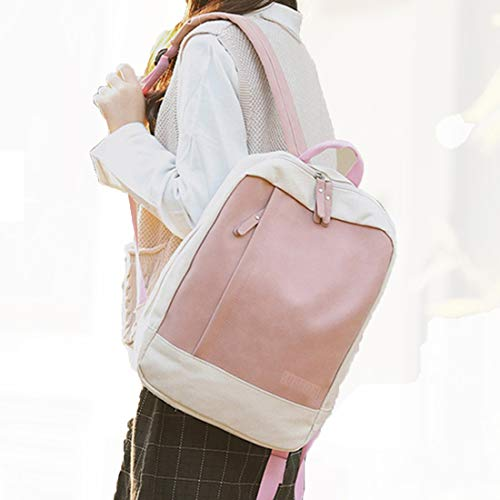 Ragazze Casual da Shoulder scuola Campus Zipper Canvas Haxibkena rosa zainetto Art Zaino Borsa gw48Yt