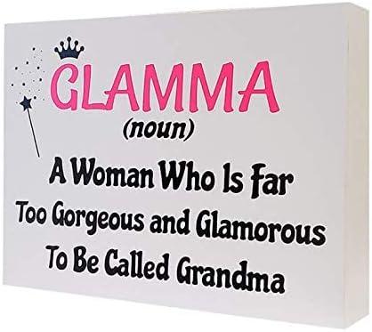 Glam Ma Too Young Gorgeous and Glamorous To Be Called Grandma Mug Friend Gift