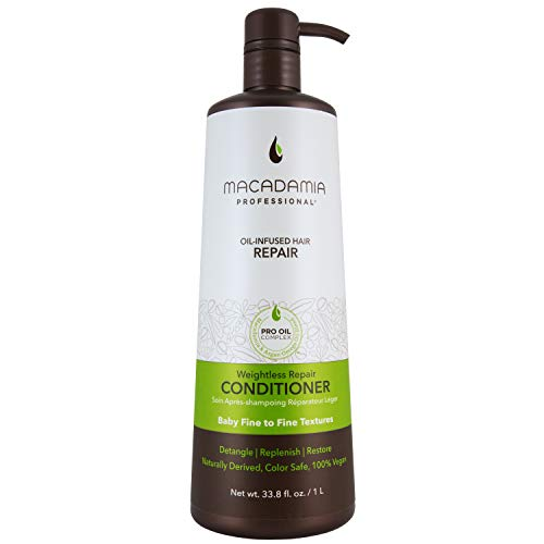 Macadamia Professional Hair Care Sulfate & Paraben Free Natural Organic Cruelty-Free Vegan Hair Products Weightless Repair Hair Conditioner, 33.8oz