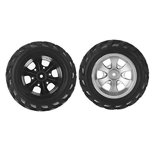 millet16zjh 2Pcs Rubber Wltoys A979 Right Tires Tyre Wheel for 1/18 RC Car Rock Crawler
