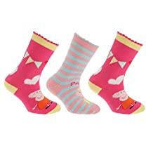 Peppa Pig Official Childrens/Kids Slipper Socks (Pack Of 3)