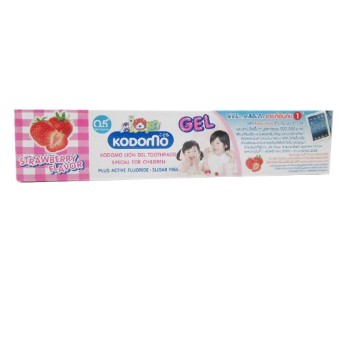 Kodomo Baby Gel Toothpaste Strawberry Flavor Sugar Free for 6 months up