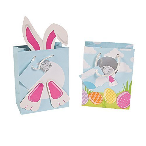Easter Bunny Rabbit Gift Bags - 12 pieces by OTC