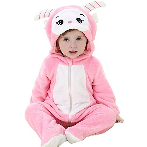 DQdq Baby Girls Halloween Costume Autumn Outfit Spring Jumpsuits Pink Sheep 100/(18-23 Months) (Sheep Costume Amazon)