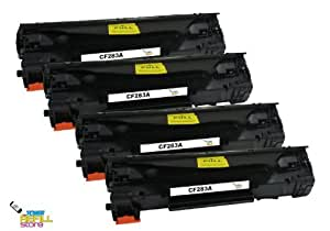 4 Compatible HP CF283A (HP 83A) Toner Cartridges for the HP LaserJet Pro MFP M127fn MFP M127fw MFP M125nw MFP M125rnw