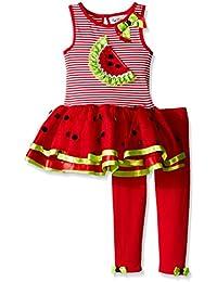 Big Girls' Watermelon Applique Tutu Legging Set