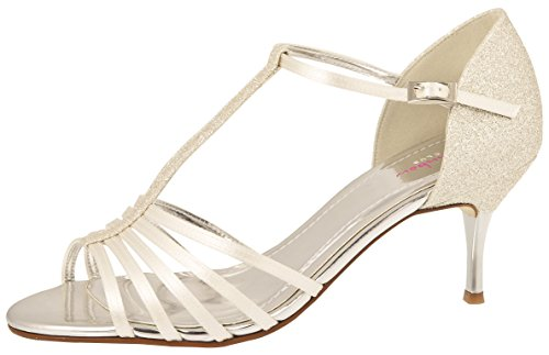 parement Shoes Satin Sandales Rainbow avec Wedding Argent paillettes Club Ivory Paragraphe Florrie avec Mariée x1qROwZ8