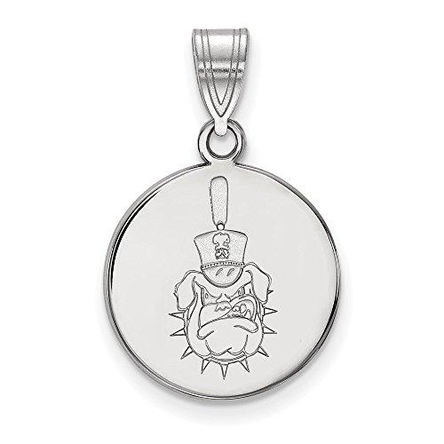 Sterling Silver Logo Art The Citadel Medium Disc Pendant