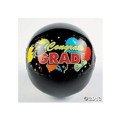 GRADUATION BEACH BALLS (1 DOZEN) - BULK by