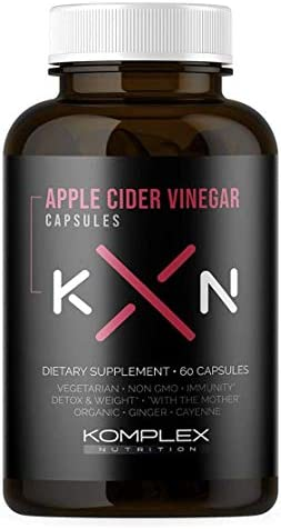 KompleX Nutrition Organic Apple Cider Vinegar Capsules, Improve Digestion and Detox, ACV Powder with Mother, 60 Vegan and Gluten-Free Supplement Pills 1
