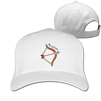 Bow and Arrow Cartoon Unisex Adjustable Baseball Cap Peaked Durable Cotton Baseball Cap