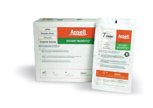 Encore MicrOptic Latex Powder-Free Surgical Glove by Ansell ( GLOVE, SURG, LATEX, ENCORE, MICROPTIC, PF, 7.5 ) 50 Pair / box by Ansell Healthcare Products
