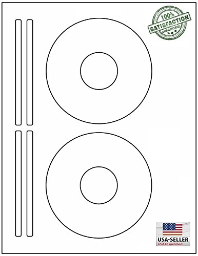 CD / DVD labels BESTeck Brand. Compatible 5931 Size Laser and Ink Jet Compatible Bright White Matte Finish. (100 Sheets/200 Labels)