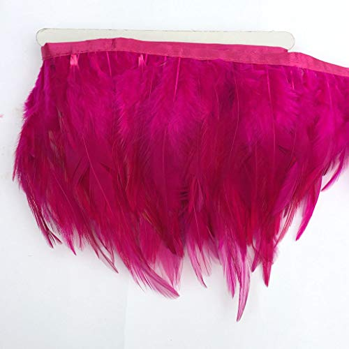 pink Shekyeon 2yards Rooster Hackle Feather Trim Dress Decoration