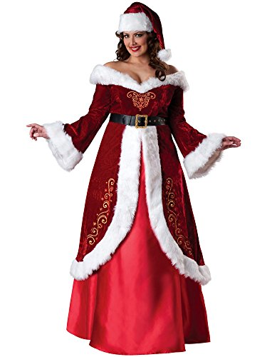 InCharacter Costumes Women's Plus-Size Mrs. St. Nick Costume, Red/White, 2X