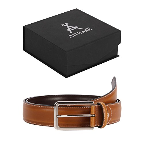 43-44 Affilare Men's Dress Belt 35mm Tan 12PX113TN from Affilare