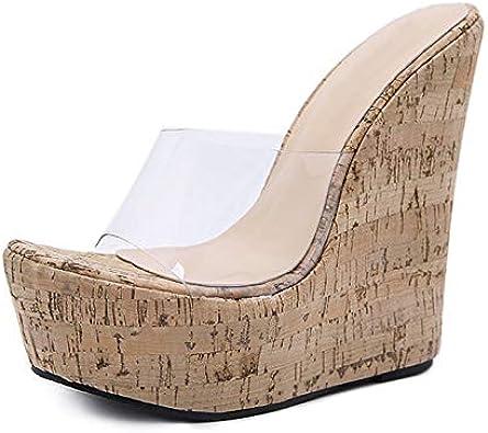 Platform Wedge Clear Sandal Slip
