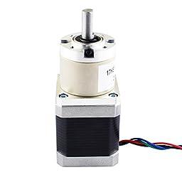STEPPERONLINE 14:1 Planetary Gearbox High Torque Nema 17 Stepper Hobby DIY CNC Camera