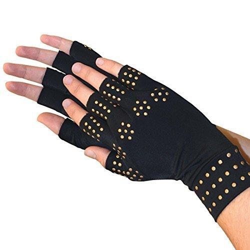 Medipaq Magnetic Anti-Arthritis Health Therapy Gloves 1X Pair (Medium) Black
