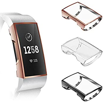 Amazon com: Compatible Fitbit Charge 3 & 3 Se Case, Kmasic
