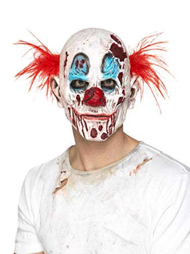 Smiffys Men's Zombie Clown Mask, Foam Latex, Multi, One Size -