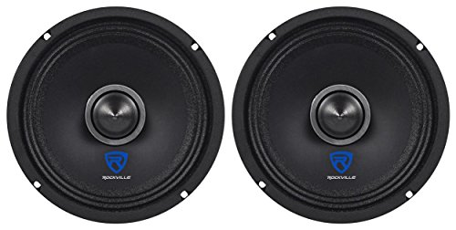 "(2) Rockville RXM64 6.5"" 300w 4 Ohm Mid-Range Drivers Car Speakers, Kevlar Cone"