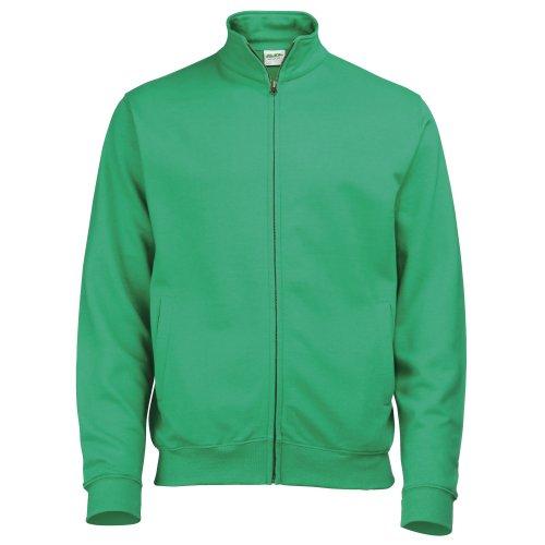 Awdis Mens Plain Fresher Full Zip Sweat/Sweatshirt/Outerwear (XXL) (Kelly Green)