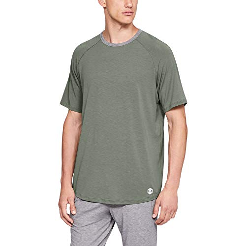 - Under Armour Men's Recovery Sleepwear Short sleeve Crew, Moss Green (492)/Metallic Silver, XXX-Large