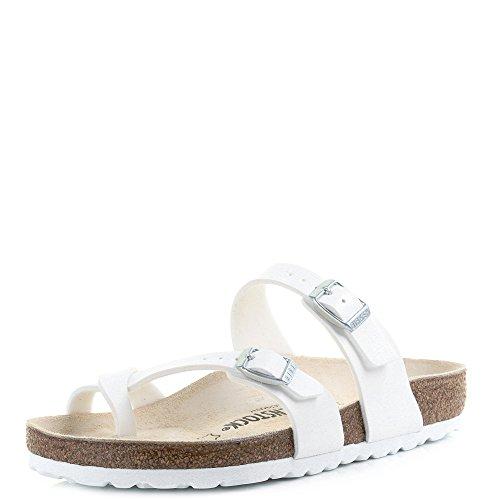 Birkenstock Womens Mayari Holiday Birko-Flor Beach Summer Flat Sandals - White - 9