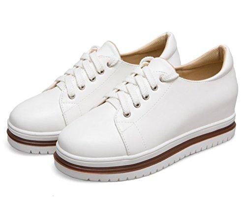 5 HiTime Blanc Blanc Femme Plateforme Sandales 36 nn7qw4AC
