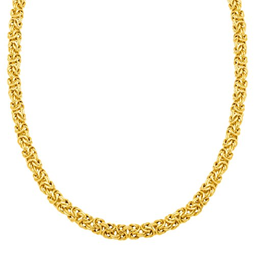 Byzantine Chain Necklace in 18K Gold-Plated Sterling Silver by Finecraft