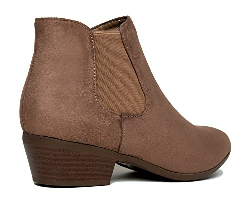 Lt Chelsea Boots Faux Elastic Dress Leather Adams ZooShoo Side Panel Soda Taupe J Women's Imsu Ankle wqB4UOWPIB