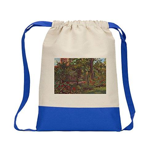Corner In Of Bellevue (Manet) Canvas Backpack Color Drawstring - Royal - In Stores Bellevue