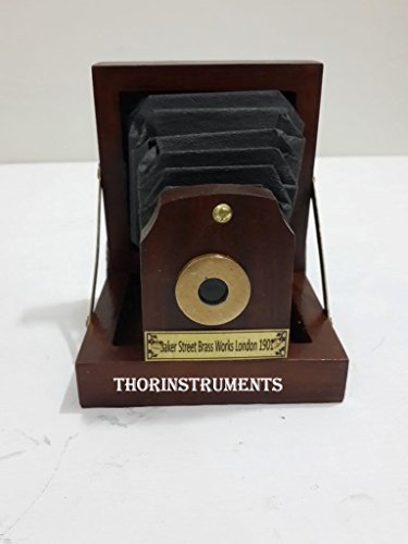 THORINSTRUMENTS (with device) Collectible Wood Antique Style Decorative Table desk Camera Home decor by THORINSTRUMENTS (with device)