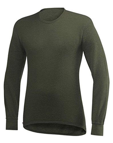 Manche Ullfrotté Woolpower Col Rond 200 shirt Olive Gr T Noir Longue qfPO5