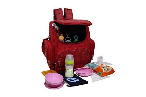 Baby Mochila Cuidado Mochila Bolsa para pañales Mochila unisex bolsa de Multifunción, bolsillo térmico Tuerca bolso bolsa para cochecito de bebé Bolsa rosa Rosa gris