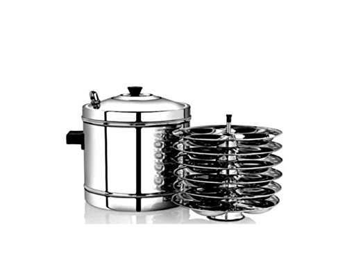 Zmatoo Indian Metal Idli Cooker With Idli Stand Stainless Steel South India Dishes Cooker