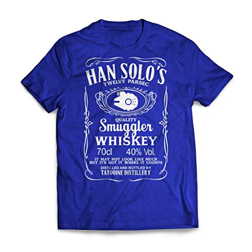 Han Solo's Whiskey Star Wars T-Shirt Small Blue - Whiskey Valley