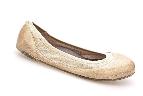 JA VIE Womens Summer Shoes Womens Ballet Flats Style for Every Day Wear Driving, Sand Stripe SZ 39 by JA VIE