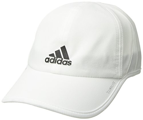 (adidas Men's Superlite Relaxed Adjustable Performance Cap, White/Black, One Size )